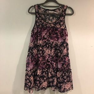 Urban Outfitters Boho Flowy Floral Dress